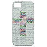 Palabra religiosa cristiana Art Cross iPhone 5 Fundas