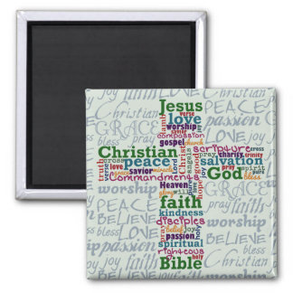 Palabra religiosa cristiana Art Cross Iman De Nevera