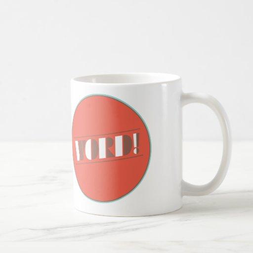 ¡Palabra! Taza de café por diseño del buen humor
