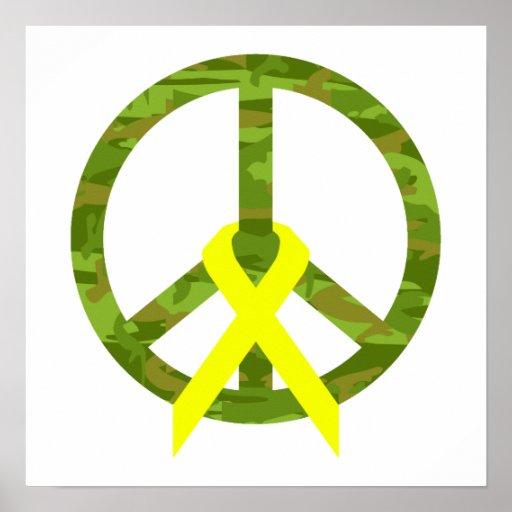 Palabra y cinta de la paz de Cammo Poster