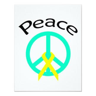 """Palabra y cinta de la paz de Greeen del mar Invitación 4.25"""" X 5.5"""""""