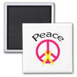 Palabra y cinta de la paz de las rosas fuertes imán