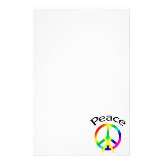 Palabra y cinta de la paz del arco iris papelería personalizada