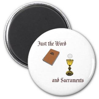 Palabra y sacramentos imán redondo 5 cm