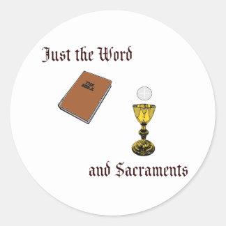 Palabra y sacramentos pegatina redonda