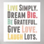 palabras a vivir por el poster
