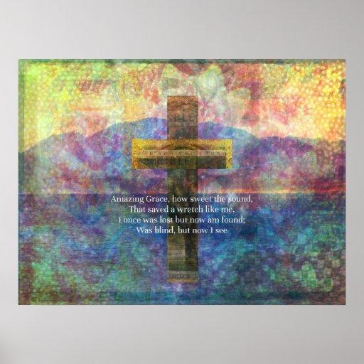 Palabras asombrosas de la tolerancia con la cruz e póster