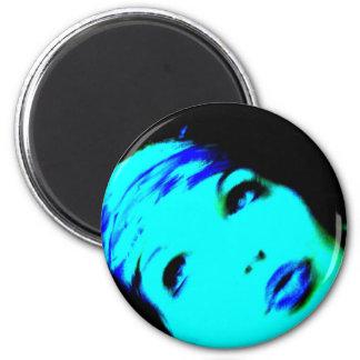 Palabras azules imán redondo 5 cm