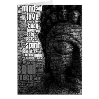 Palabras budistas de la sabiduría tarjeta