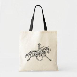 Palabras claves del montar a caballo bolsa tela barata