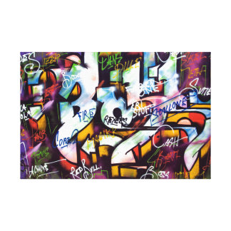 Palabras coloridas de la pintada impresiones en lienzo estiradas