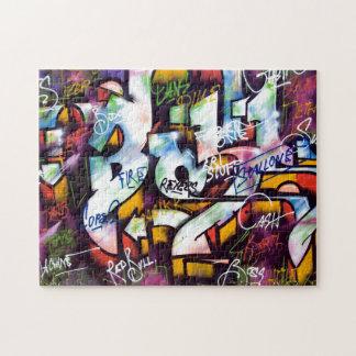Palabras coloridas de la pintada puzzle