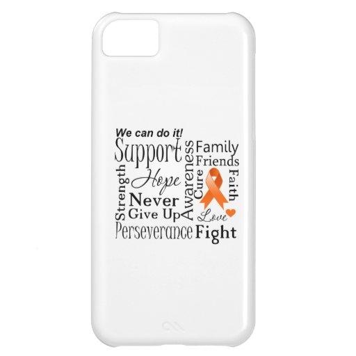 Palabras de apoyo de la leucemia funda para iPhone 5C