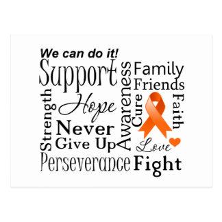 Palabras de apoyo de la leucemia postal