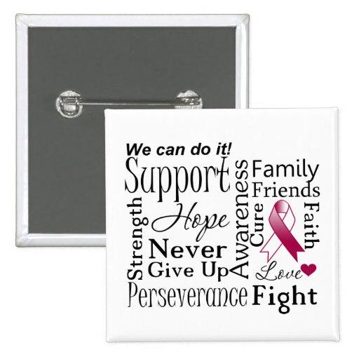 Palabras de apoyo del cáncer de cabeza y cuello pin
