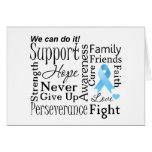 Palabras de apoyo del cáncer de próstata tarjeta