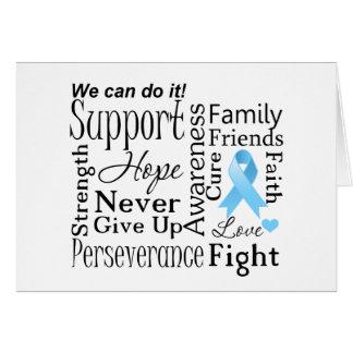 Palabras de apoyo del cáncer de próstata tarjeta de felicitación