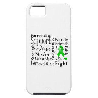 Palabras de apoyo del cáncer del riñón (verde) iPhone 5 funda