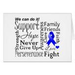 Palabras de apoyo del cáncer rectal tarjeta