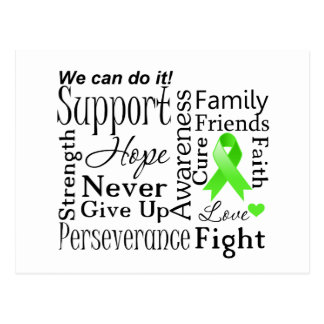 Palabras de apoyo del linfoma no-Hodgkin Postales