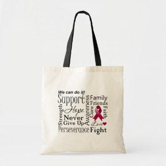 Palabras de apoyo del mieloma múltiple bolsas
