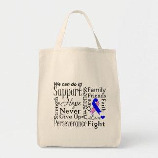 Palabras de apoyo masculinas del cáncer de pecho bolsa tela para la compra