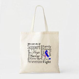 Palabras de apoyo masculinas del cáncer de pecho bolsa tela barata