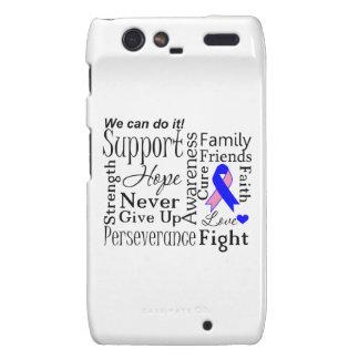 Palabras de apoyo masculinas del cáncer de pecho motorola droid RAZR funda