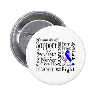 Palabras de apoyo masculinas del cáncer de pecho pin redondo 5 cm