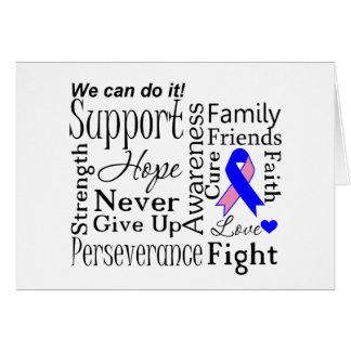 Palabras de apoyo masculinas del cáncer de pecho tarjeta de felicitación