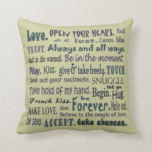 palabras de la almohada del arte del amor