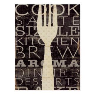 Palabras de la cocina tarjetas postales