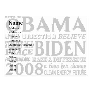 Palabras de la esperanza Obama y de la tarjeta 200 Tarjetas De Negocios