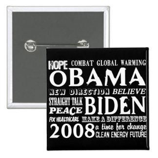 Palabras de la esperanza Obama y del botón 2 de Bi