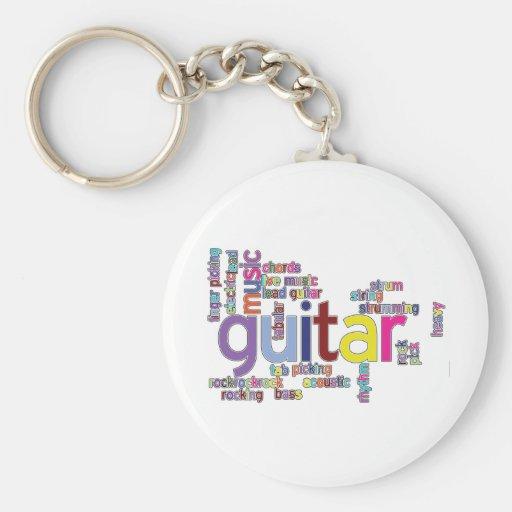 palabras de la guitarra llaveros personalizados