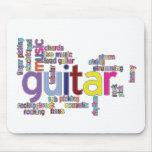 palabras de la guitarra tapete de ratón