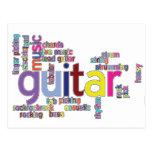 palabras de la guitarra tarjetas postales