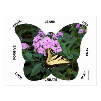 Palabras de la mariposa a vivir cerca postal
