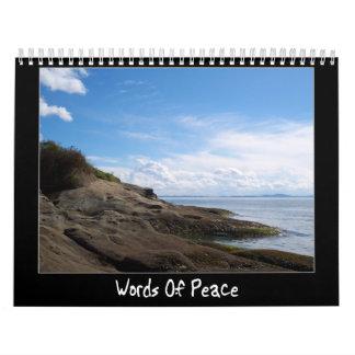 Palabras de la paz calendario