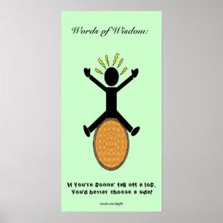 Palabras de la sabiduría #1 posters