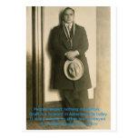 ¿Palabras de la sabiduría de Al Capone? Postal