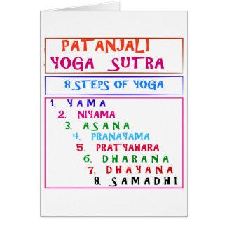 Palabras de la sabiduría de la yoga tarjeta de felicitación