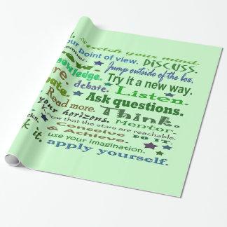 Palabras de la sabiduría papel de regalo