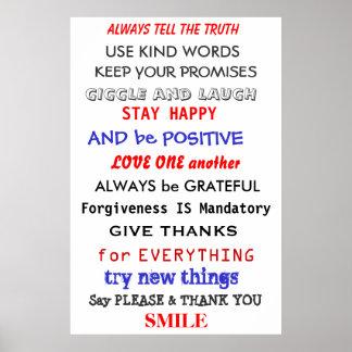 Palabras de la sabiduría póster