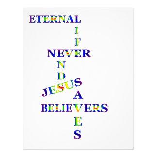 Palabras de la vida eterna plantillas de membrete