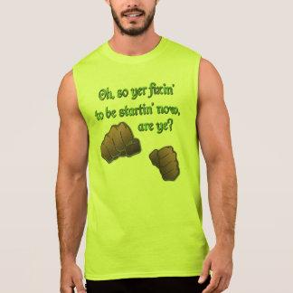 Palabras de lucha irlandesas camisetas sin mangas