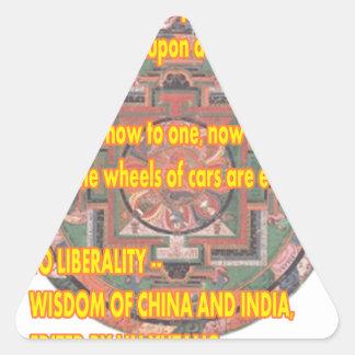 Palabras de Manda a vivir por el jGibney Pegatina Triangular
