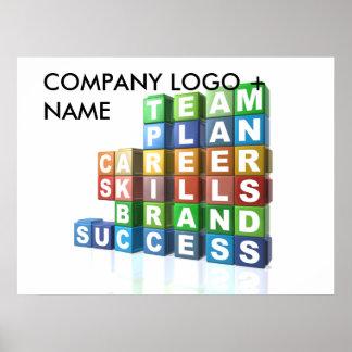 Palabras de moda de motivación del negocio póster
