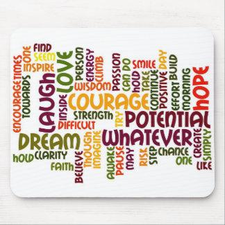 Palabras de motivación #1 - actitud positiva tapetes de ratón