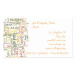 Palabras de motivación #2 tarjetas de visita
